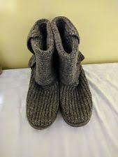 womens ankle boots low heel australia ugg australia capra knit boots grey womens 8 us eu 39 fully