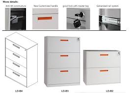 Metal Filing Cabinet 4 Drawer China New Design Customized Handle 2 3 4 Drawer Metal Office