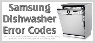 Whirlpool Dishwasher Clean Light Blinking Samsung Dishwasher Error Codes Removeandreplace Com