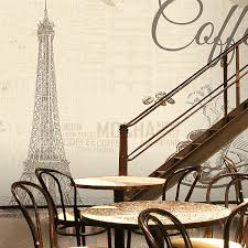 free shipping 3d france paris eiffel tower retro mural bar cafe