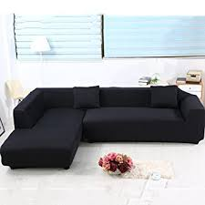Sectional Sofa Cover Universal Sofa Covers For L Shape 2pcs Polyester