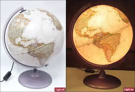 earth globes that light up the charleston illuminated globe exec ngs stanfords