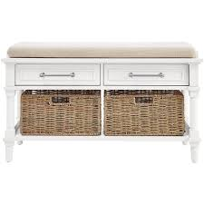 White Storage Bench Home Decorators Collection Walker White Storage Bench 7400600410