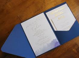 Gold Foil Wedding Invitations Watercolor Gold Foil Wedding Invitation Pocket Stock U0026 Stamp