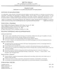 Relevant Experience Resume Examples by Teachers Aide Resume Berathen Com