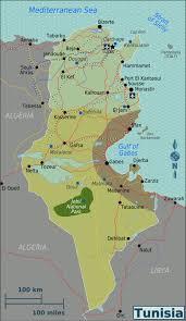 tunisia physical map tunisia wikitravel