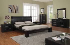 Green Bedroom Paint Colors - modern queen size platform bed black contemporary nightstand green