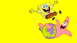 floating spongebob squarepants desktop background hd 1920x1080