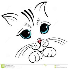 coloring engaging kitten face drawing simple cat