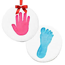 sale baby handprint makes 2 keepsake ornament kit
