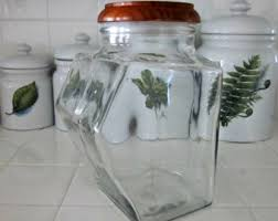 Clear Glass Kitchen Canisters by Kitchen Containers Etsy