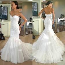 wedding dresses fluffy vintage mermaid wedding dresses with lace appliques