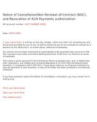 Landscape Contract Cancellation Letter Fire Inspector Cover Letter