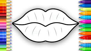 lips coloring pages learn colors for girls how to draw and paint