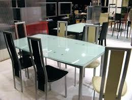 table cuisine verre trempé table en verre cuisine table agatha verre sablac 04 chaise zip