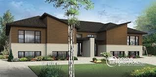 chambre split modèle de maison jumelée contemporaine 3 à 4 chambres par unité