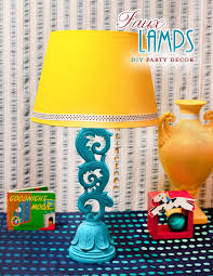 Yellow Table Lamp Diy Decor Tutorial Faux Table Lamps Hostess With The Mostess