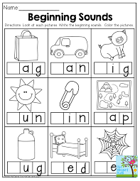 Homeschool Kindergarten Worksheets Beginning Sounds And So Many Other Great Printables For Back To