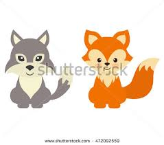 baby fox free vector stock graphics images