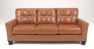 Ashley Sofa Leather by Paulie Orange Cuddler Sofa By Ashley Furniture