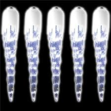 set of 35 led solar powered icicle lights no outlets
