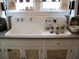 Antique Porcelain Kitchen Sink Vintage Kitchen Sinks For Sale Sinks Farm Style Faucets Bridge