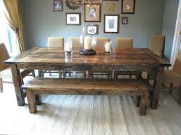 Oak Dining Table Bench Charming How To Make A Farm House Dining Table Melindaspriggs How