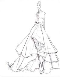 drawn gown elegant dress pencil and in color drawn gown elegant