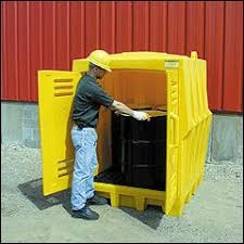 Outdoor Chemical Storage Cabinets Outside Poly Storage Building For 55 Gallon Drums Hardtop Shed