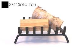 rugged iron fireplace grate 19