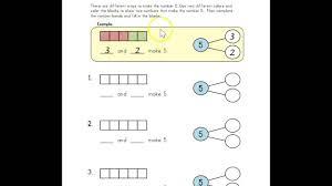 number bonds 5 worksheet directions youtube
