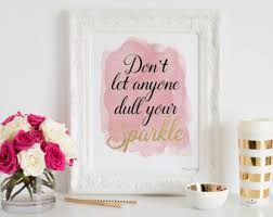 Sparkle Wall Decor Dull Your Sparkle Etsy
