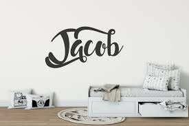 contemporary boys name wall sticker stunning stickers font boys wall stickers