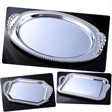 wedding serving trays kingart silver hotel fruit cake plate metal dessert serving cake