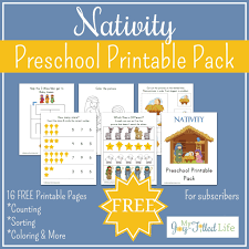 free printable nativity preschool pack my joy filled life