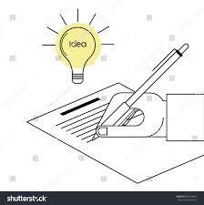 paper with writing on it creative writing vector line concept hand stock vector 562134442 creative writing vector line concept hand with pen is writing on paper and light bulb