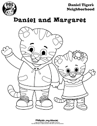 coloring daniel tiger s neighborhood pbs kids pages within