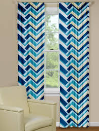 Chevron Pattern Curtains Get Right Size And Style Of Chevron Curtain Panels Decoration