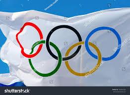 Olimpics Flag Athens Greece October 2 2013 White Stock Photo 195424763