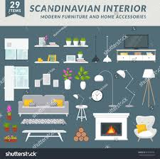 modern furniture items home accessories living stock vector modern furniture items and home accessories for living room design create your interior in trendy