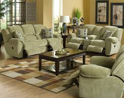 Chenille Reclining Sofa Conrad Manual Reclining Sofa In Thistle Color Chenille Fabric By