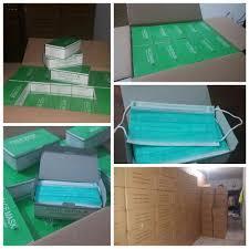Masker Hijau 1 Box jual masker hijau 3 ply filter asap untuk berbagai jenis asap di