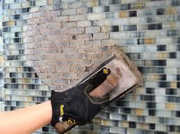 how to set a kitchen backsplash tile tos diy install clipgoo