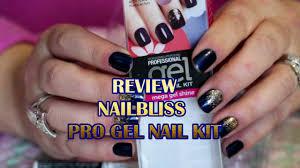 review nail bliss pro gel nail kit just jill d youtube