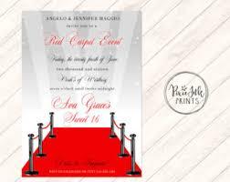 red carpet invitation hollywood birthday invitation glamour