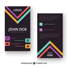 vertical business card template vector free download