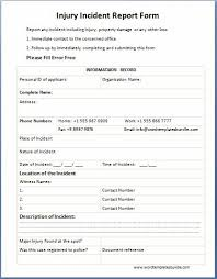 incident report form template word incident report form template fieldstation co