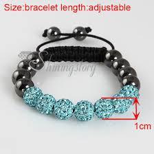 macrame beads bracelet images Macrame armband hematite rhinestone disco ball pave beads jpg