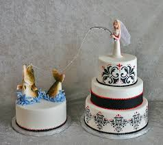 fishing wedding cake toppers pin fishing bride and groom wedding