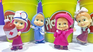 masha bear figures masha medved play doh surprise